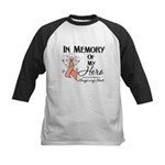 In Memory Uterine Cancer Kids Baseball Jersey