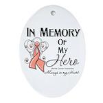In Memory Uterine Cancer Ornament (Oval)