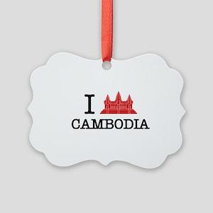 I Angkor (Love) Cambodia Picture Ornament