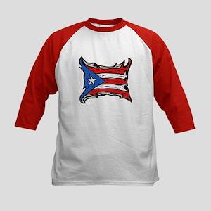 Puerto Rico Heat Flag Kids Baseball Jersey