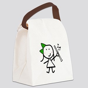 Girl & Clarinet - Green Canvas Lunch Bag