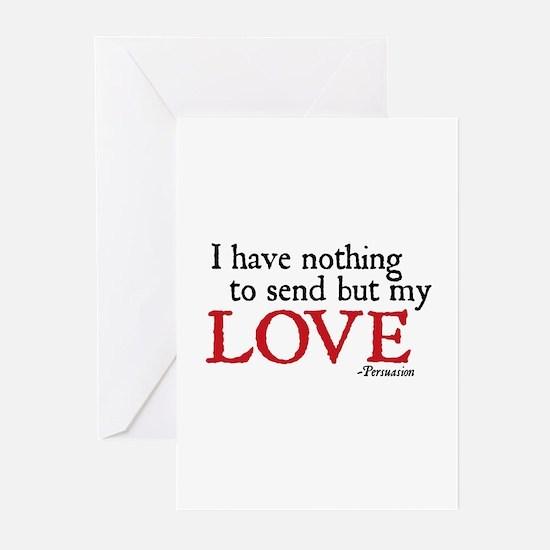 Jane Austen Send love Cards (Pk of 10)