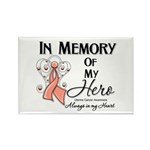 In Memory Uterine Cancer Rectangle Magnet (100 pac
