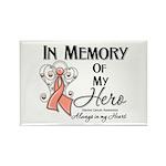 In Memory Uterine Cancer Rectangle Magnet (10 pack