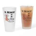 In Memory Uterine Cancer Drinking Glass
