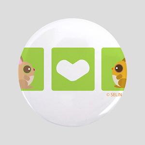 "bunny + hamster heart 3.5"" Button"