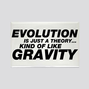 Evolution Just a Theory Rectangle Magnet