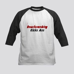 Beachcombing Kicks Ass Kids Baseball Jersey