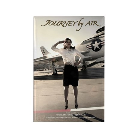 """""""Journey by Air"""" Rectangle Magnet by TJP"""