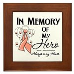 In Memory Uterine Cancer Framed Tile