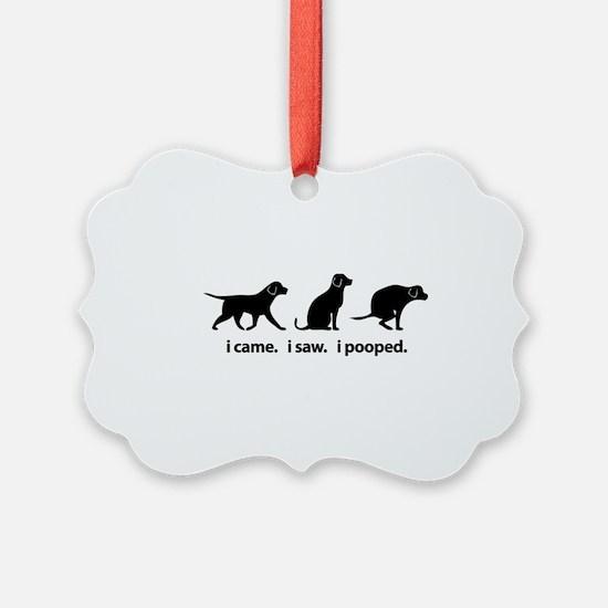 I Came. I Saw. I Pooped Funny Dog Ornament