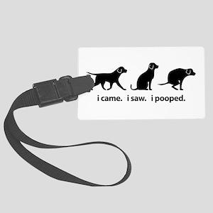 I Came. I Saw. I Pooped Funny Dog Large Luggage Ta
