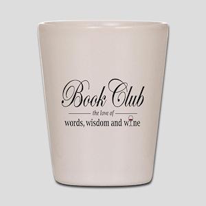 Book Club Shot Glass