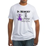In Memory Pancreatic Cancer Fitted T-Shirt