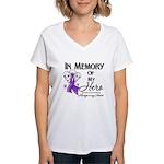 In Memory Pancreatic Cancer Women's V-Neck T-Shirt