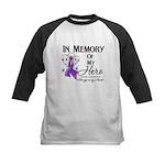 In Memory Pancreatic Cancer Kids Baseball Jersey
