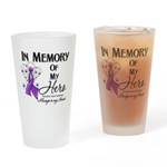 In Memory Pancreatic Cancer Drinking Glass