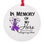 In Memory Pancreatic Cancer Round Ornament