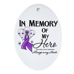 In Memory Pancreatic Cancer Ornament (Oval)