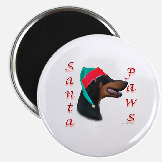 Santa Paws Doberman Magnet