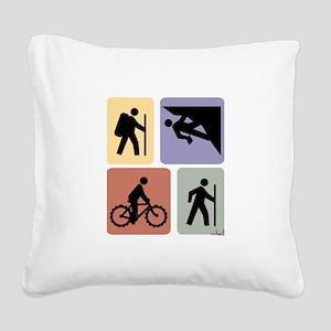 Multi Sport Guy Square Canvas Pillow