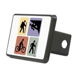 Multi Sport Guy Rectangular Hitch Cover