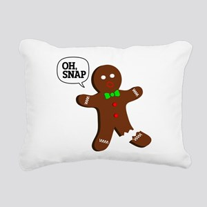 oH Snap, Gingerbread Man Rectangular Canvas Pillow