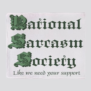 National Sarcasm Society Throw Blanket