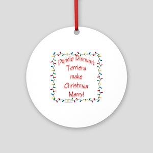 Dandie Merry Ornament (Round)