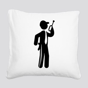 Security Guard Square Canvas Pillow