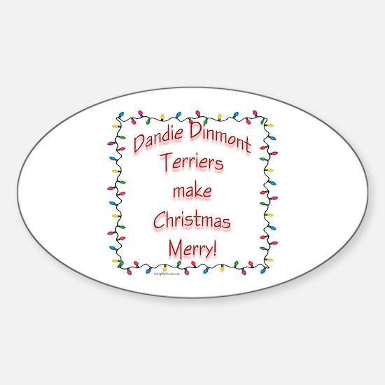 Dandie Merry Oval Decal