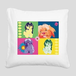 NANCY SHOP 1 Square Canvas Pillow