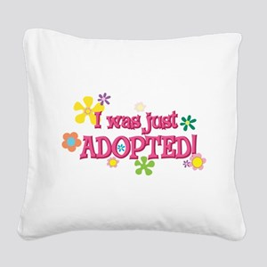 JUSTADOPTED44 Square Canvas Pillow