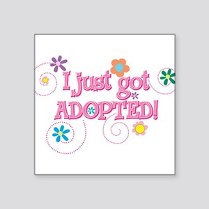 "JUSTADOPTED33 Square Sticker 3"" x 3"""