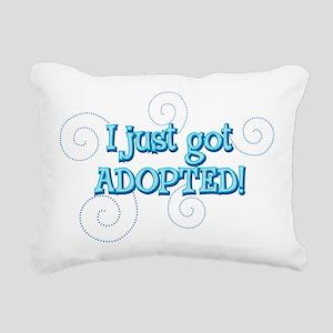 JUSTADOPTED22 Rectangular Canvas Pillow