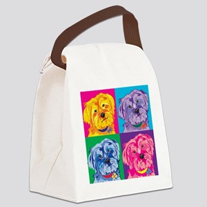 Yorky Yorkshire Terrier art Canvas Lunch Bag