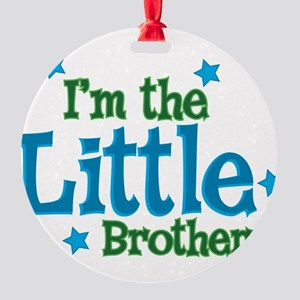 Im the Little Brother Round Ornament