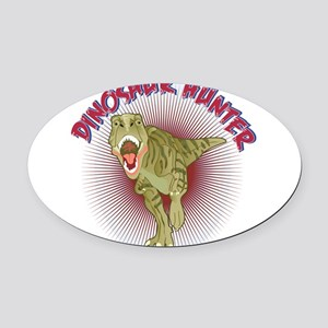 DinoHunter2cafe Oval Car Magnet