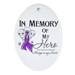 In Memory Leiomyosarcoma Ornament (Oval)