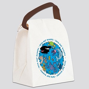 LUVROCEANS Canvas Lunch Bag