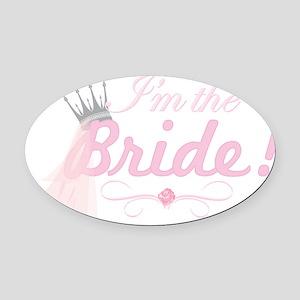 BRIDE1.png Oval Car Magnet