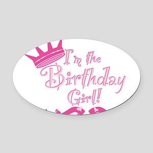 Birthday Girl Oval Car Magnet