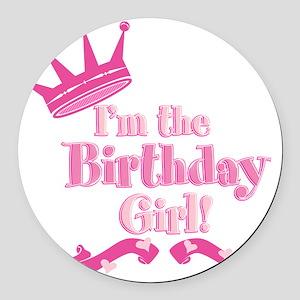 Birthday Girl 2 Round Car Magnet