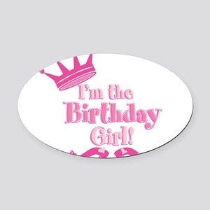 Birthday Girl 2 Oval Car Magnet