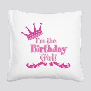 Birthday Girl 2 Square Canvas Pillow