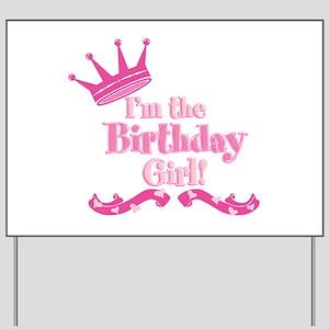 Birthday Girl 2 Yard Sign