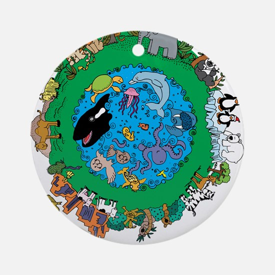 Be Kind To Animals.png Ornament (Round)