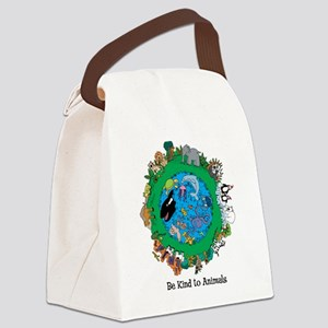 Be Kind To Animals Canvas Lunch Bag