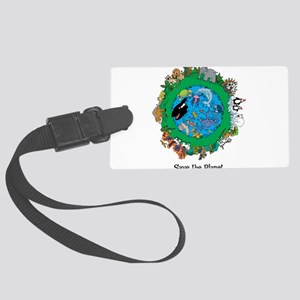 SAVE THE PLANET Large Luggage Tag