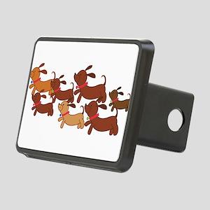 Running Weiner Dogs Rectangular Hitch Cover